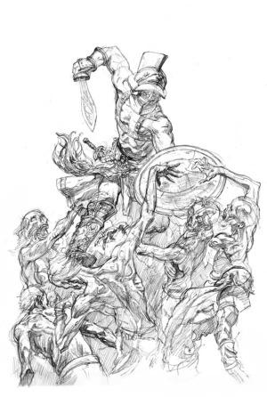 """Ilustraciju """"Gladijator"""" uradio Siniša Banović."""