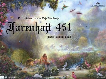 Pozorišna predstava ''Farenhajt 451'' otvara novu sezonu Narodnog pozorišta u Nišu