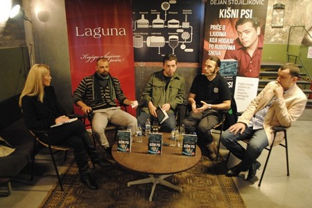Učesnici promocije: Vanja Gavrovski, Marko Krstić, Dejan Stojiljković, Aleksandar Petrović - Aca Seltik, Pavle Zelić