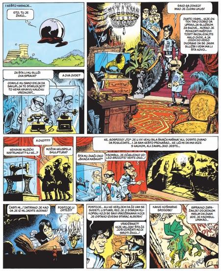 Isečak iz stripa Valerijan (u izdanju beogradskog Darkwood-a)