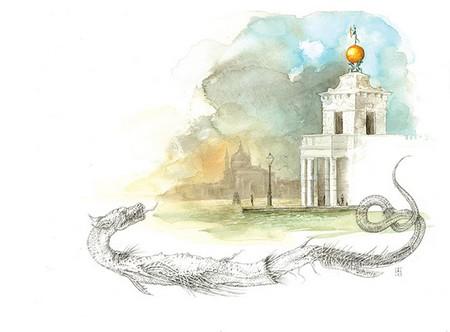 Ilustracija za priču ''Div, kockar, cipela'' (Aleksandar  Palavestra)