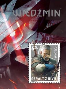 Geralt od Rivije na poštanskim markicama u Poljskoj