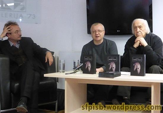 Učesnici promocije: Milenko Bodirogić, Dejan Ognjanović i Đorđe Kadijević