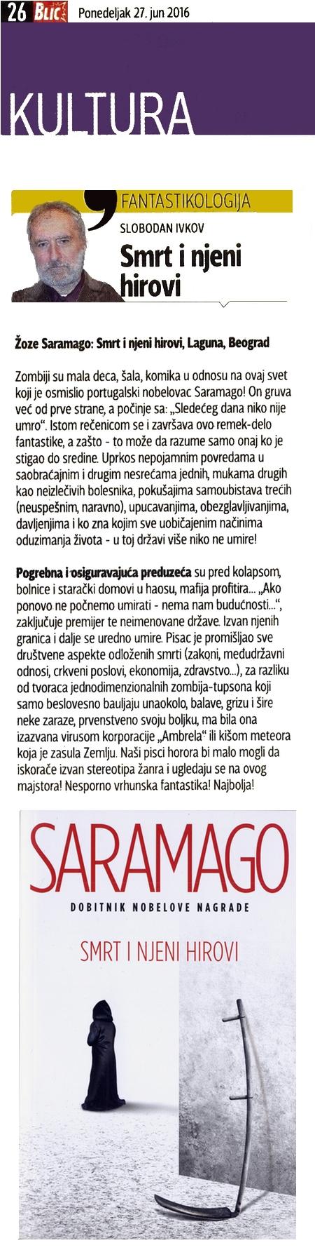 Žoze Saramago - SMRT I NJENI HIROVI