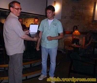 Dodela nagrade za doprinos popularizaciji fantastike: Ilija Bakić i Dragoljub Igrošanac
