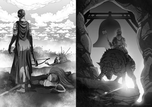Proročanstvo Korota ilustrovao je Zoran Jovičić, crtač strip serijala Kosingas