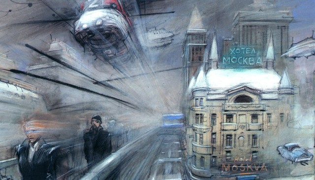 Ilustracija Enkija Bilala - Hotel Moskva