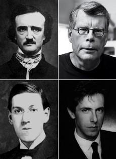Majstori horor književnosti: Edgar Alan Po, Hauard Filip Lavkraft, Stiven King, Klajv Barker