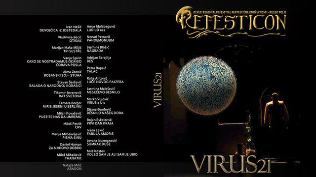 korice zbirke Virus 21